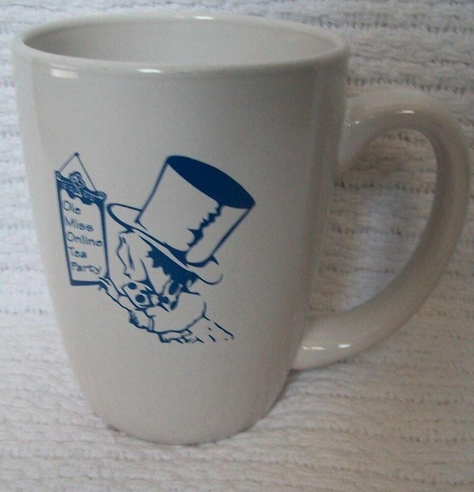 Ole Miss Tea Party White Blue Mug Online University Of Mississippi Oxford Ms Unbran In 2020 University Of Mississippi Importance Of Time Management Online University