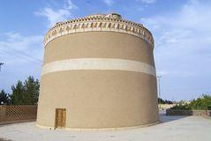 Esterno della piccionaia tradizionale in Meybod, provincia di Yazd, Iran Fotografia Stock