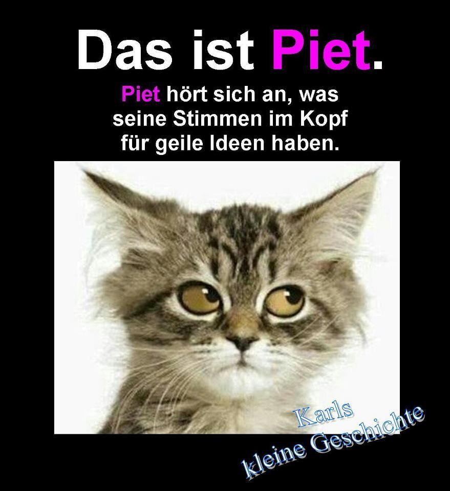 Das ist Piet. Piet hört sich an, was seine Stimmen im Kopf ...