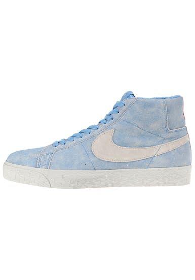 Hohe qualität Nike Waffle 83 Damen Schuhe Grau Hellblau