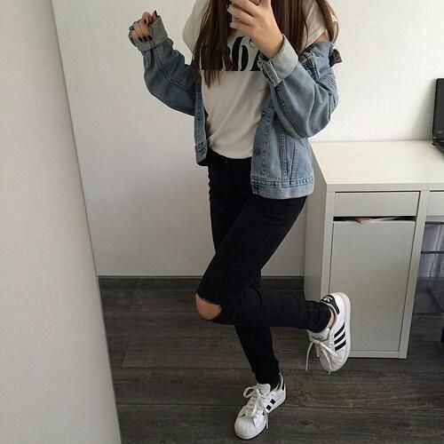 Adidas Superstar Outfit Tumblr