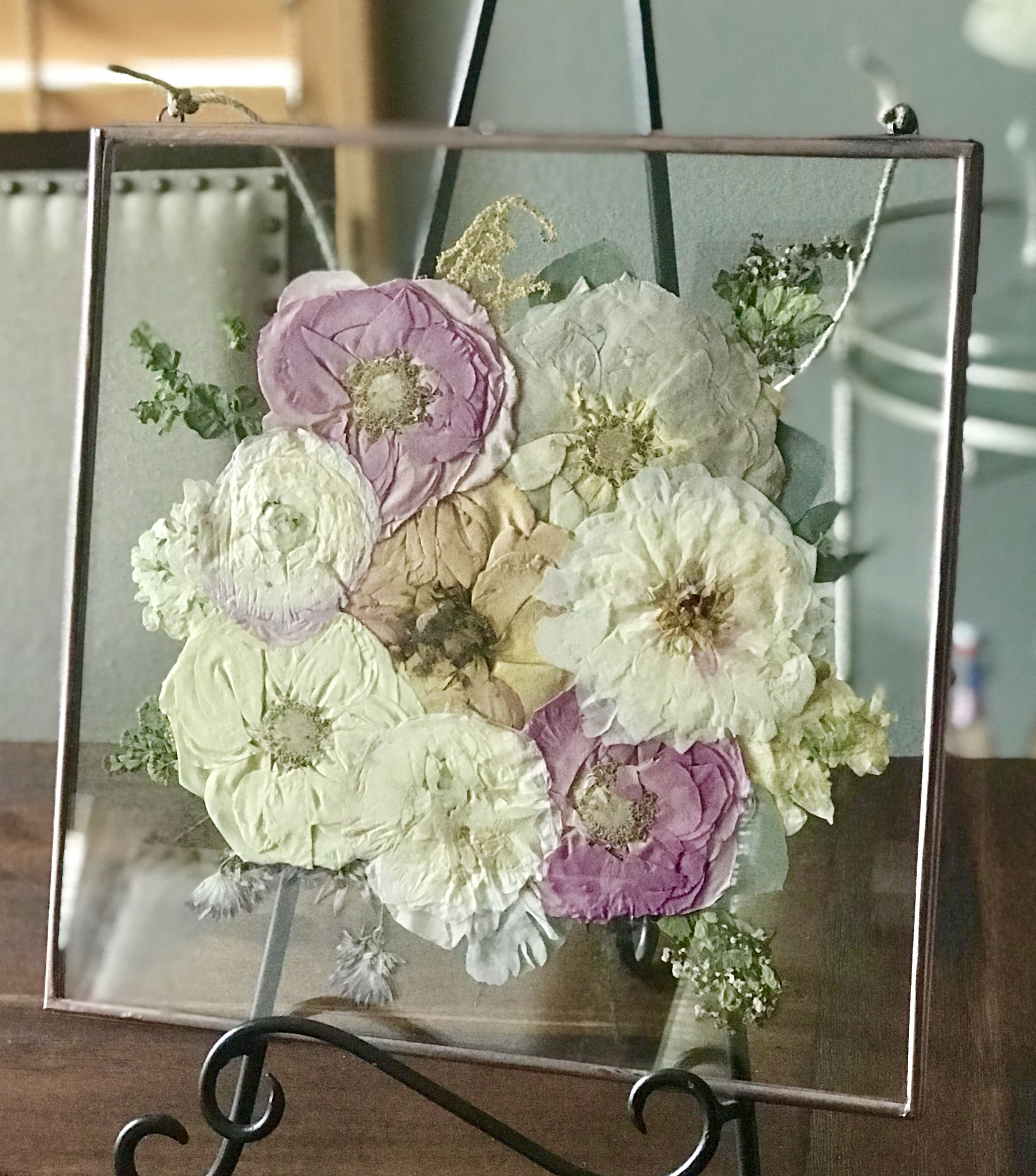 Pressed Wedding Flowers: Custom Pressed Bridal/Bouquet Wall Hangings