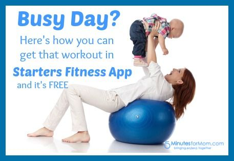 If your days are busy like ours, then the FREE Starters Fitness app is exactly what you need. It helps you get all those workouts in that you put off because of your busy schedule