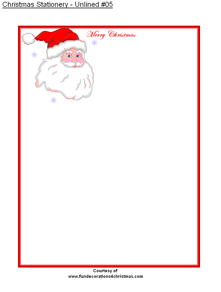 photograph relating to Free Printable Christmas Paper Stationery referred to as Absolutely free Printable Unlined Xmas Stationery Stationary