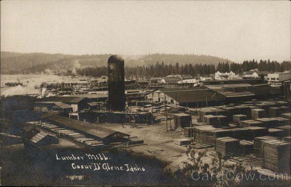 Lumber Mill | Coeur d'alene, Coeur d'alene idaho, Lumber mill