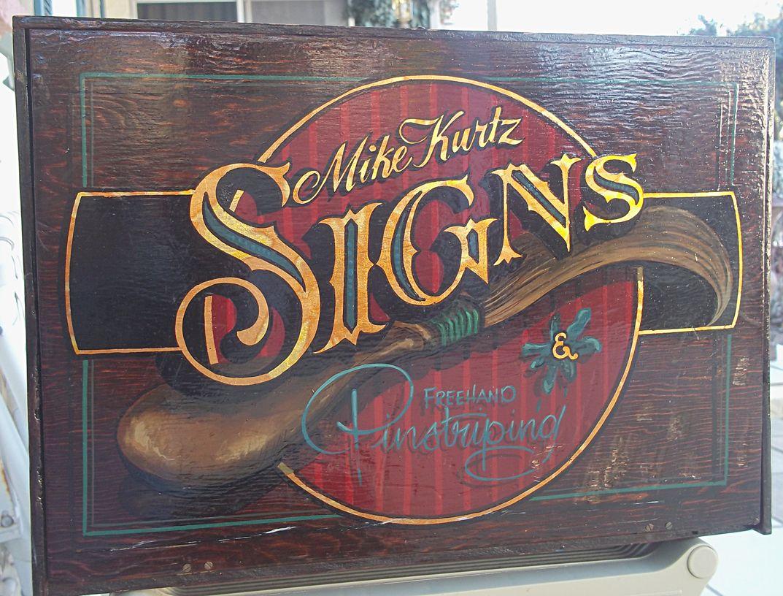 Vintage Sign Kit Hand Lettered Gold Leaf Illustrated