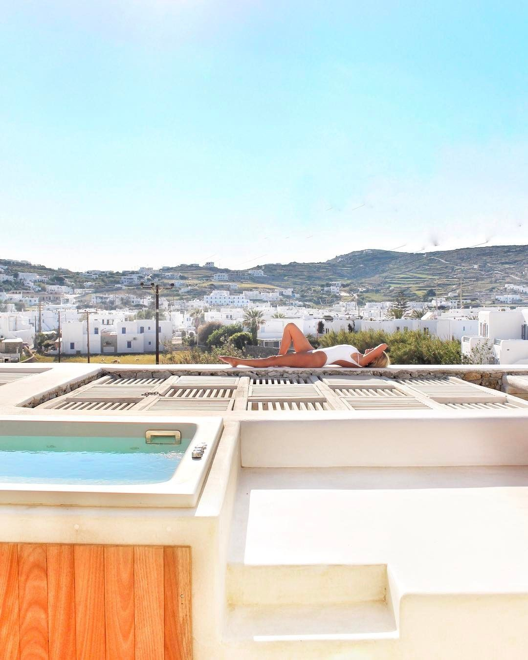 Beautiful Happy Earth Day From Mykonos! Rooftop Views From My Jacuzzi Terrace At The  New Luxury .