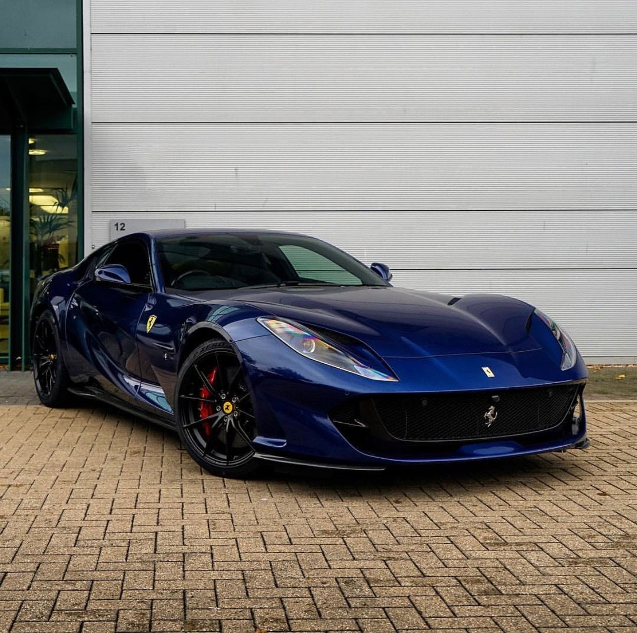 Ferrari 812 Superfast: Ferrari 812 Superfast Painted In Tour De France Blue Photo