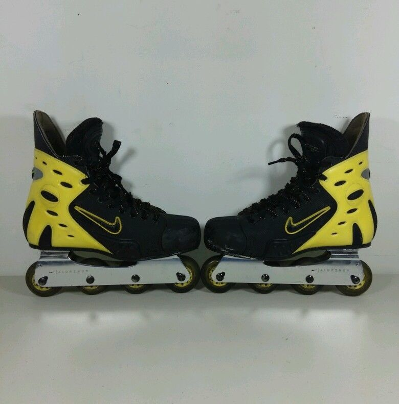 Preowned Nike Air Zoom Yellow Inline Roller Skates Canada Men S Skate Us Size 12 Skate Man Roller Skates Nike Air Zoom