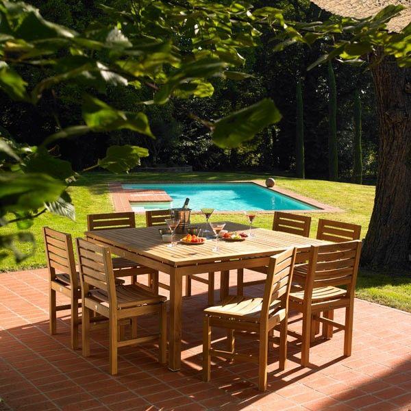 Salon de jardin en teck Teck\'Tora #jardin #garden #bar #table ...