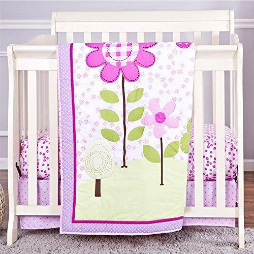 Portable Or Mini Crib Bedding Sets For Girls Mini Crib Sheets Spring Garden Gift Dreamonme Portable Crib Bedding Mini Crib Bedding Crib Bedding Sets