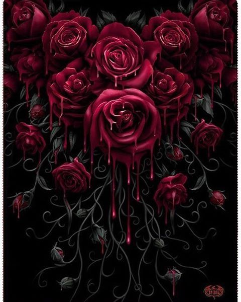 A Beautiful Garland Of Gothic Roses To Keep You Warm During The Fall Is Available At The Inked Shop Now Order Gothic Rose Gothic Wallpaper Red Roses Wallpaper