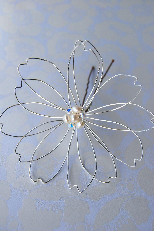 Large Wire Flower Hair Piece | Craft ideas | Pinterest | Flower hair ...