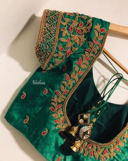 70 Trendy Embroidery Blouse Designs Bridal #blousedesignslatest