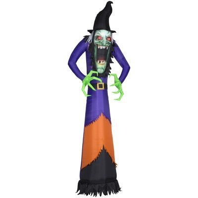 Gemmy Industries Photorealistic Witch Airblown Inflatable Halloween - witch decorations