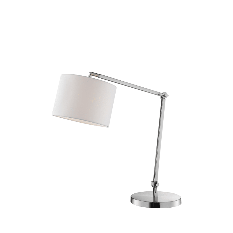 Lite Source Ls 23155 Brushed Nickel Lark Single Light 33 Tall Arc Desk Lamp In 2020 Table Lamp Table Lamp Office Nickel Table Lamps