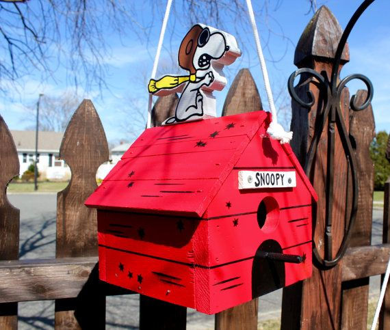 Snoopy Red Baron Birdhouse By Francescosbirdhouses On Etsy