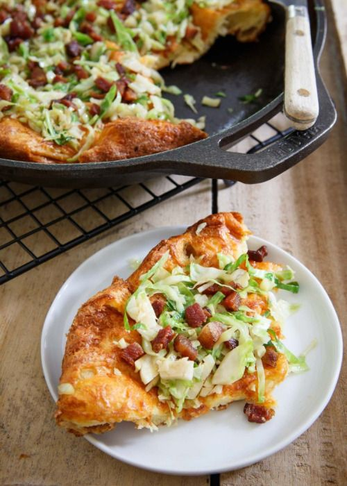 Book Loving Knitting Nerd • foodffs:  CHEDDAR DUTCH BABY WITH BACON AND...