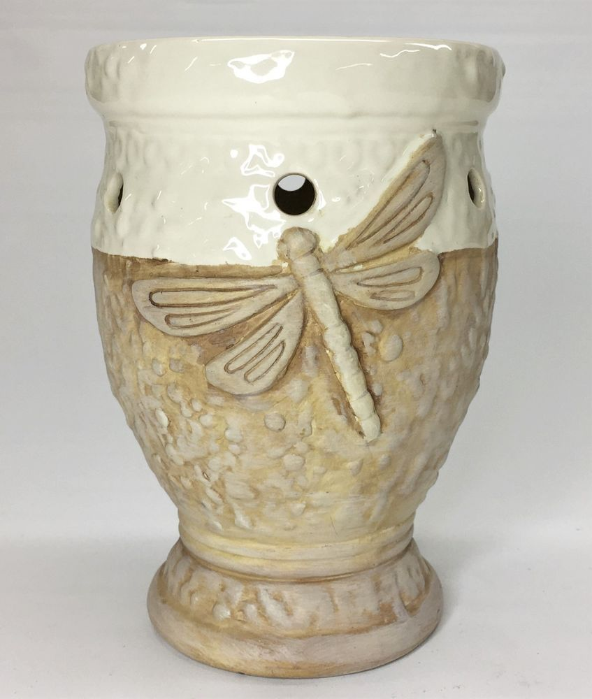 Details about yankee candle company stoneware dragonfly tall wax