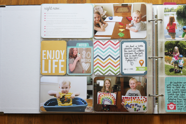 Project Life Page Created by Kristina Proffitt using the Honey Kit available at Simon Says Stamp. July 2013
