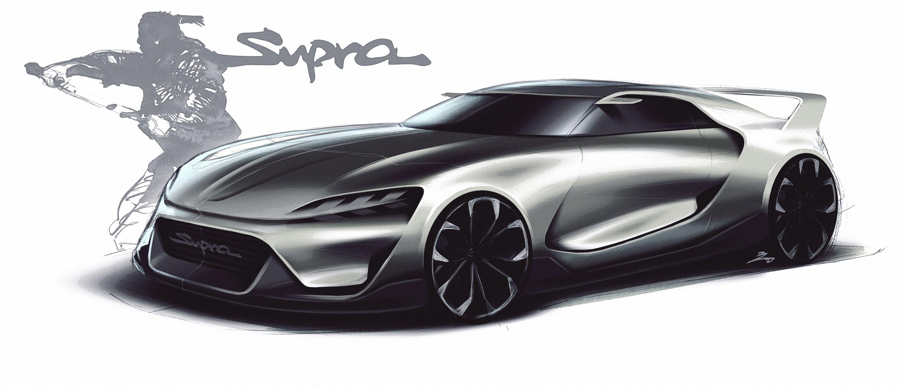Toyota Supra concept sketch | Car design sketch, Concept ...