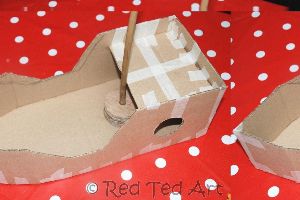 cardboard pirate ship template - how to make a diy pirate ship do it with cardboard