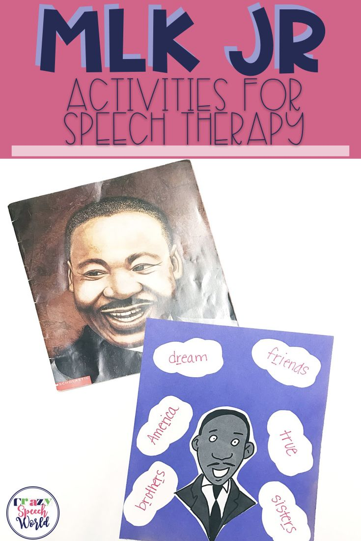 Speech Therapy activities related to Martin Luther King Jr.  Includes several free ideas for articulation and language therapy for elementary, middle, and high school students!