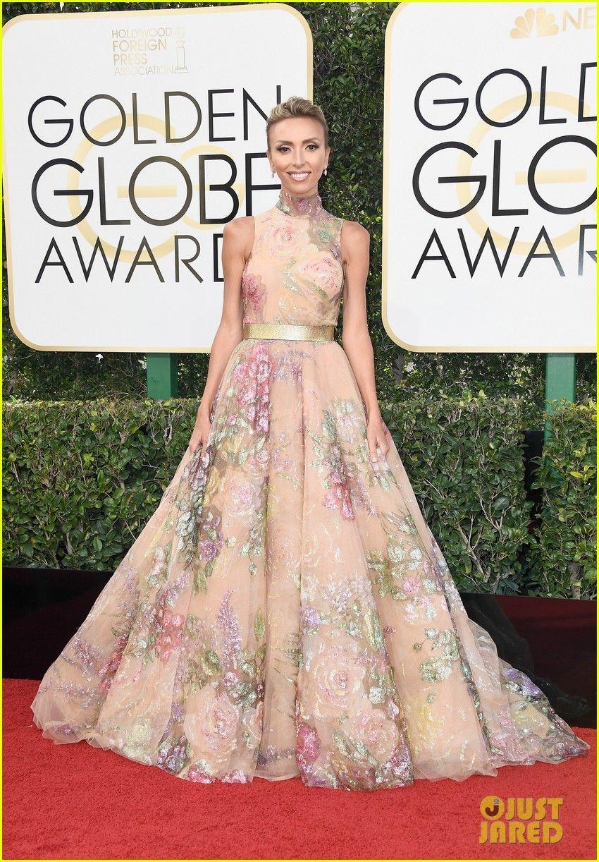 Giuliana rancic 2014 oscars paolo sebastian dress - Giuliana Rancic Nancy O Dell More Tv Hosts Hit The Golden Globes