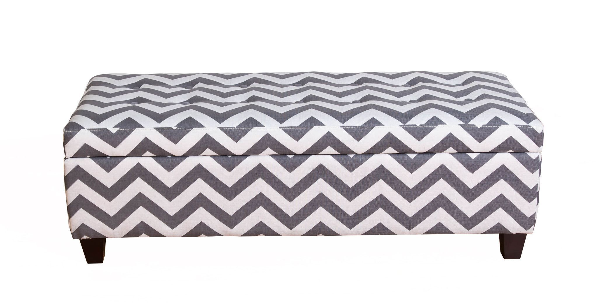 Pleasing Bombay Medina Grey Chevron Storage Ottoman Bench Bedroom Caraccident5 Cool Chair Designs And Ideas Caraccident5Info