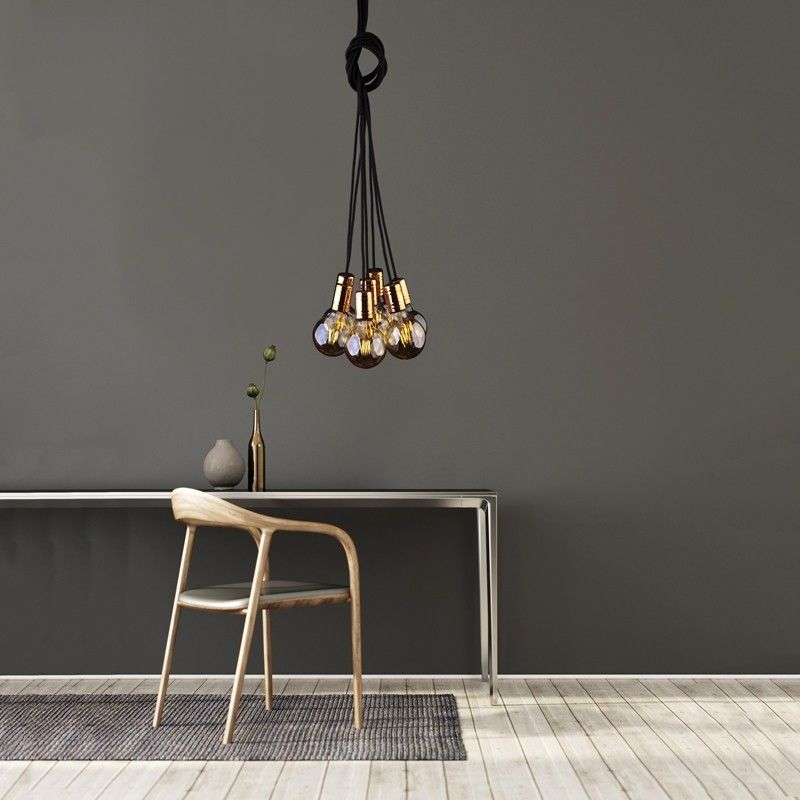Edit Cable Cluster Ceiling Pendant Light Black And Copper Industrial Editcollections Foundry Industriallights Lightingdirect L Black Pendant Light Ceiling Pendant Copper Lighting