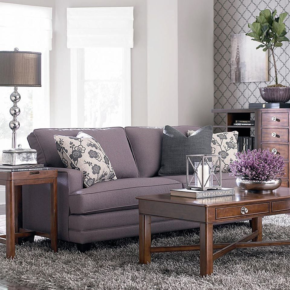 Lavender And Gray Living Room From Bassett Furniture Drool