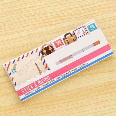 Usd2 55 Pleasant Supplies Co Paris Themed Sticky Bookmark For Back To School Style 2