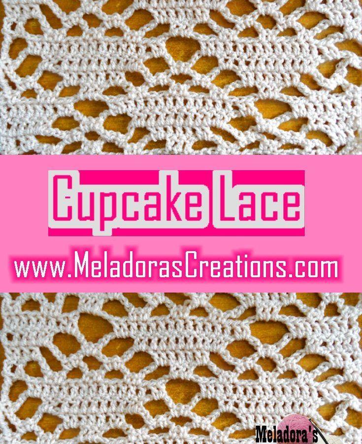 Cupcake Lace Pinterest | Crochet | Pinterest | Puntadas, Tejido y ...