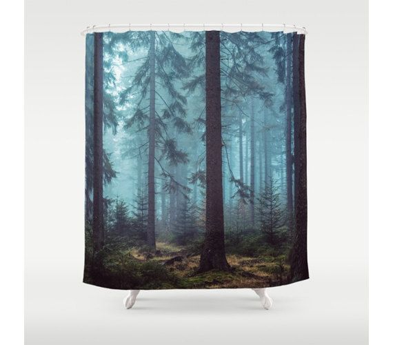 Hey I Found This Really Awesome Etsy Listing At Https Www Etsy Com Listing 477386395 Shower Curtain Trees Forest Wilderness With Images Nautical Shower Curtains