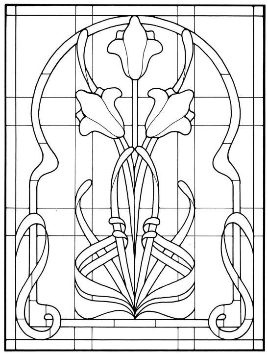 #Art #Book #Glass #nouveau #Pattern #Stained #stained