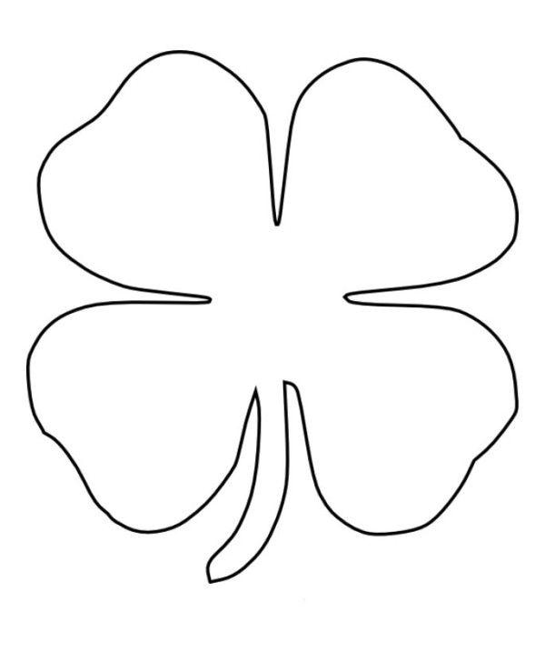 four leaf clover coloring for kids