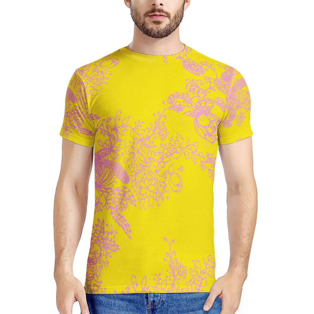 Photo of flowers New Men's All Over Print T-shirt