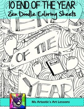 end of the year coloring pages End of the Year Coloring Pages, Zen Doodles | End of the Year  end of the year coloring pages