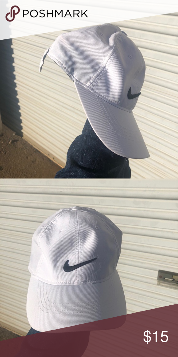 3806f02116a ... TIGERWOODS NIKE GOLF HAT  white solid with black nike check    supreme  condition   BRAND NEW fit    nike NOT  adidas  puma  gucci Nike Accessories  Hats