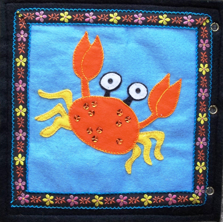Hazel 39 s under the sea quiet book crab appliqu animales pinterest manualidades - Manualidades y bricolaje ...