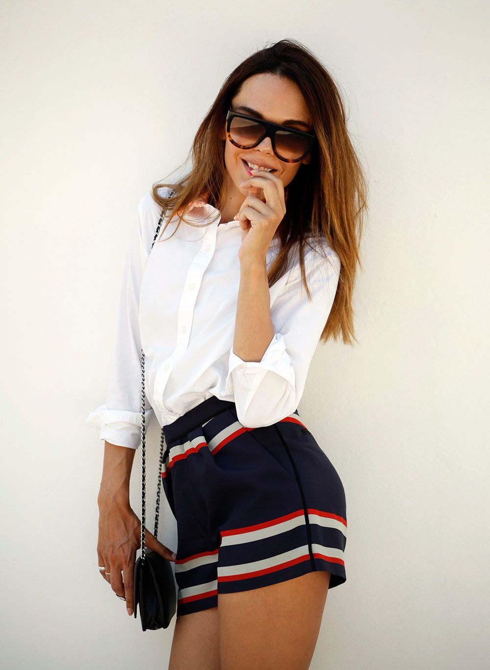 Under The Sun  #Shirts & Blouses #Striped #Shorts #Shoulder
