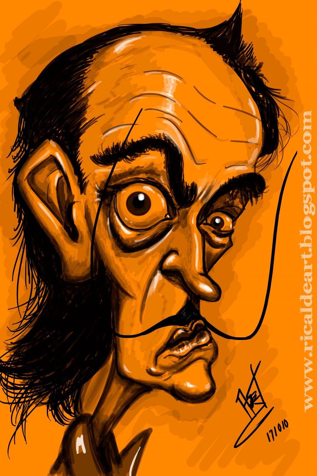 Angel Ricalde: Salvador Dali caricatura