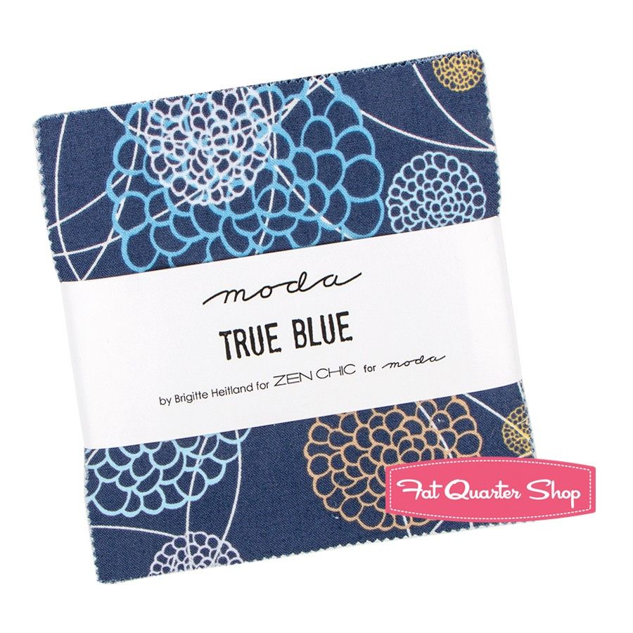 True Blue Charm Pack Zen Chic for Moda Fabrics Blue