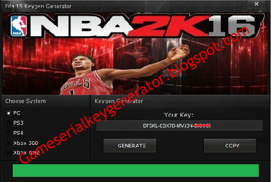 NBA 2K17 Game Serial Key Generator 2017 No Survey Free Download  http://gameserialkeygenerator