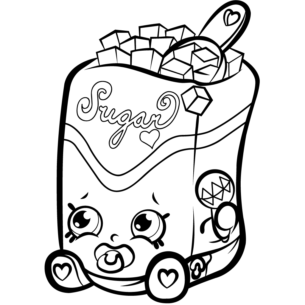 Shopkins Coloring Pages Cartoon Coloring Pages