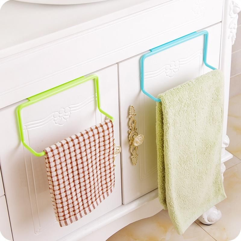 Click Image To Buy Asypets Durable Pp Plastic Over Door Towel Rack Bar Hanging Holder Bathroom Kit Kitchen Towel Rack Towel Rack Kitchen Cabinets In Bathroom