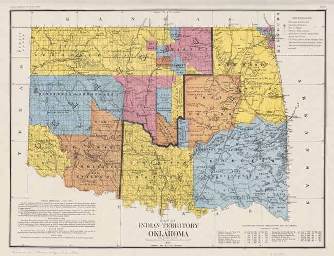 Native History Land Rush For Oklahoma Indian Territory Begins - Us indian territory 1800s map