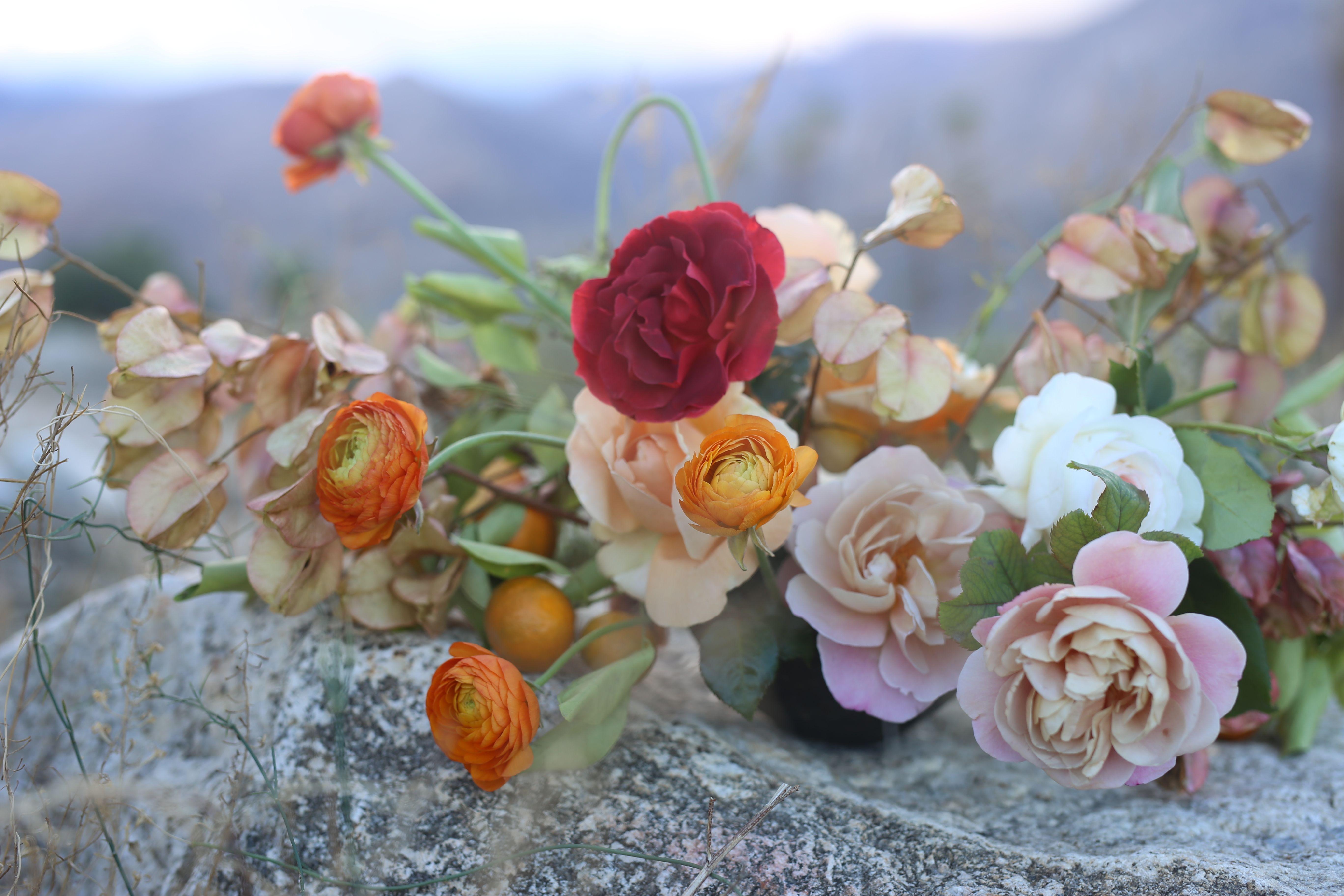 Palm Springs Wedding Inspiration Desert Flowers Hart Studio