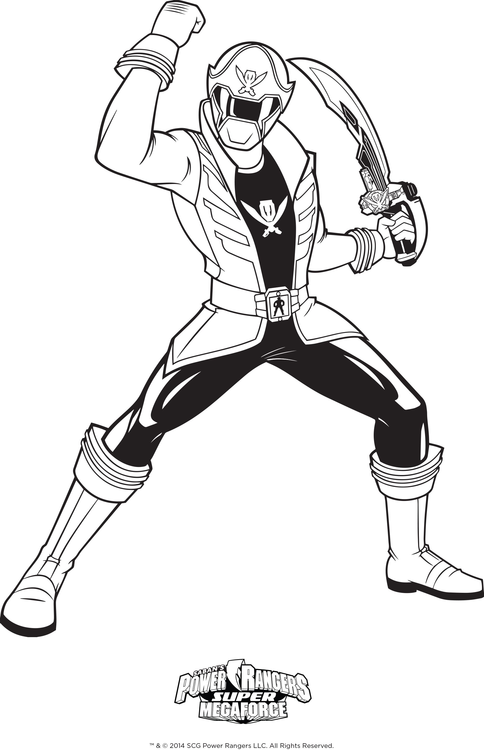 power rangers super megaforce coloring pages tagged with power ...