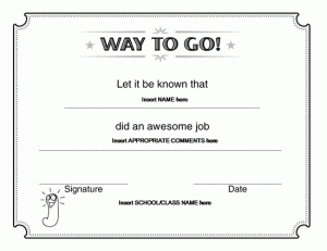Way to go award certificate microsoft word teaching pinterest 10 best award certificate templates for 2016 yadclub Gallery